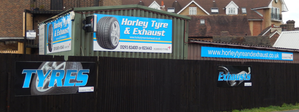 Exterior of Horley Tyre & Exhaust